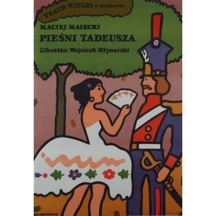 Pieśni Tadeusza Jan Młodożeniec Polskie Plakaty Teatralne