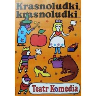 Krasnoludki, krasnoludki Jan Młodożeniec Polskie Plakaty Teatralne
