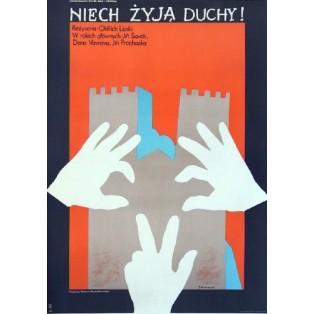Niech żyją duchy Oldrich Lipsky Jacek Neugebauer Polskie Plakaty Filmowe