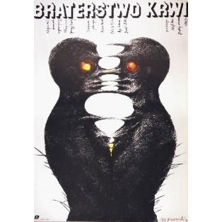 Braterstwo krwi Gyorgy Dobray Marian Nowiński Polskie Plakaty Filmowe