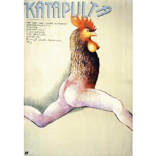 Katapulta Jaromil Jires Marian Nowiński Polskie Plakaty Filmowe