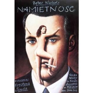 Namiętność Rafał Olbiński Polskie Plakaty Teatralne
