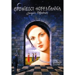 Opowieści Hoffmanna Rafał Olbiński Polskie Plakaty Operowe