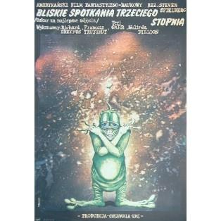 Bliskie spotkania 3 Stopnia Steven Spielberg Andrzej Pągowski Polskie Plakaty Filmowe