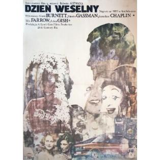 Dzien weselny Robert Altman Andrzej Pągowski Polskie Plakaty Filmowe
