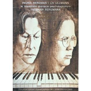 Jesienna sonata Ingmar Bergman Andrzej Pągowski Polskie Plakaty Filmowe