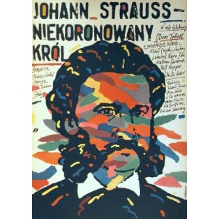 Johann Strauss Niekoronowany król Andrzej Pągowski Polskie Plakaty Filmowe