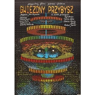 Gwiezdny przybysz Andrzej Pągowski Polskie Plakaty Filmowe