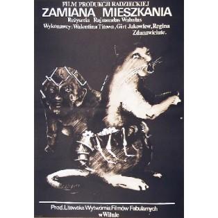 Zamiana mieszkania Raimondas Vabalas Marek Płoza-Doliński Polskie Plakaty Filmowe
