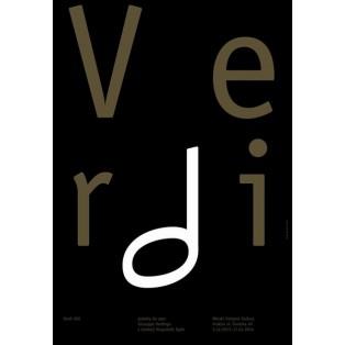 Verdi - plakaty do oper Giuseppe Verdiego Władysław Pluta Polskie Plakaty Muzyczne