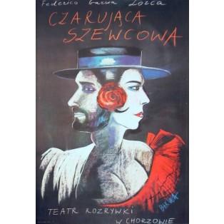 Czarująca szewcowa Hanna Bakuła Polskie Plakaty Teatralne