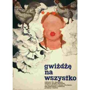Gwiżdżę na wszystko Sergei Nikonenko Maria Biegańska Polskie Plakaty Filmowe