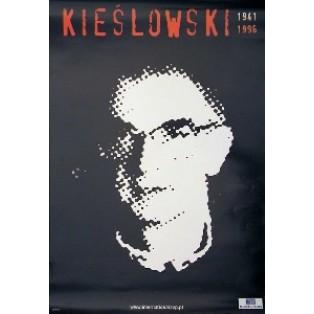 Krzysztof Kieślowski czarny Jan Bokiewicz Polskie Plakaty Filmowe