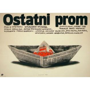 Ostatni prom Waldemar Krzystek Andrzej Budek Polskie Plakaty Filmowe