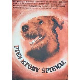 Pies który śpiewał Sergiu Nicolaescu Krystyna Hoffman-Pągowska Polskie Plakaty Filmowe