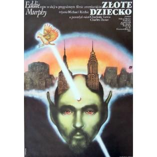 Złote dziecko Michael Ritchie Janusz Obłucki Polskie Plakaty Filmowe