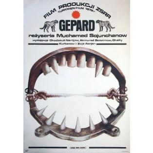 Gepard Mukhamed Soyunkhanov Marek Płoza-Doliński Polskie Plakaty Filmowe