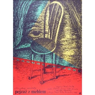 Pejzaż z meblem Karel Smyczek Elżbieta Procka Polskie Plakaty Filmowe