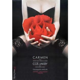 Carmen Georges Bizet Rosław Szaybo Polskie Plakaty Operowe