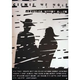 Cienie we mgle Woody Allen Elżbieta Wojciechowska Polskie Plakaty Filmowe