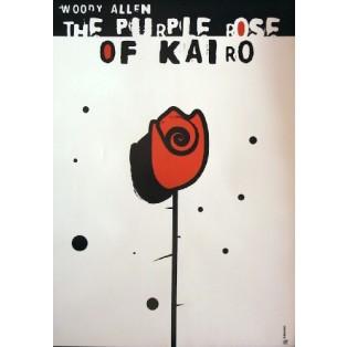Purpurowa róża z Kairu Woody Allen Elżbieta Wojciechowska Polskie Plakaty Filmowe