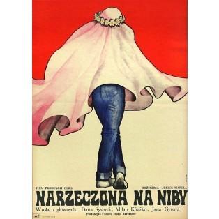Narzeczona na niby Julius Matula Krystyna Hoffman-Pągowska Polskie Plakaty Filmowe