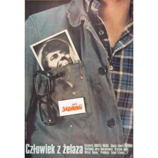 Człowiek z żelaza Andrzej Wajda Marcin Mroszczak Polskie Plakaty Filmowe