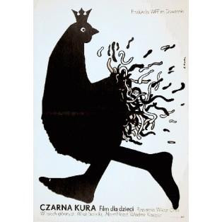 Czarna kura Viktor Gres Elżbieta Procka Polskie Plakaty Filmowe