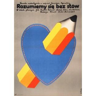 Rozumiemy się bez słów Elżbieta Procka Polskie Plakaty Filmowe