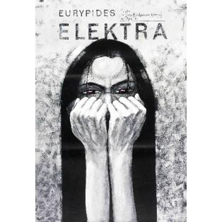 Elektra Sofokles Bolesław Polnar Polskie Plakaty Teatralne