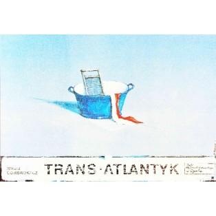 Trans-Atlantyk Bolesław Polnar Polskie Plakaty Teatralne