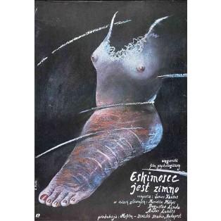 Eskimosce jest zimno Elżbieta Procka Polskie Plakaty Filmowe