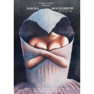 Szkoła kochanków czyli Cosi fan tutte  Wiesław Rosocha Polskie Plakaty Filmowe