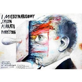 Międzynarodowy salon plakatu Paryż 1986 Wiktor Sadowski Polskie Plakaty
