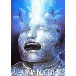 Nabucco Giuseppe Verdi Wiktor Sadowski Polskie Plakaty Operowe
