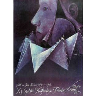 Opolskie Konfrontacje Teatralne 11. Wiktor Sadowski Polskie Plakaty Teatralne