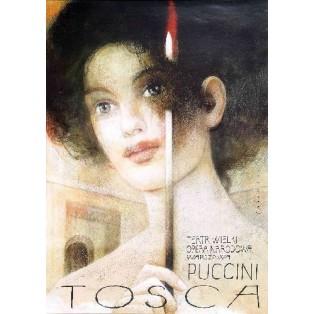 Tosca Wiktor Sadowski Polskie Plakaty Operowe