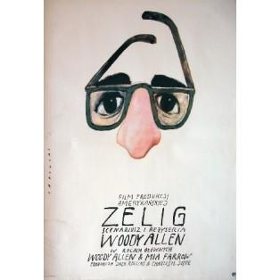 Zelig Woody Allen Wiktor Sadowski Polskie Plakaty Filmowe