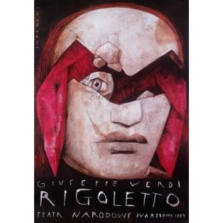 Rigoletto Giuseppe Verdi Wiktor Sadowski Polskie Plakaty Teatralne