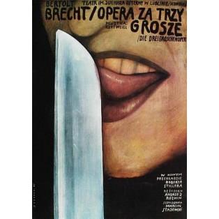 Opera za trzy grosze Bertolt Brecht Wiktor Sadowski Polskie Plakaty Teatralne