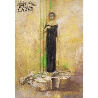 Elektra Richard Strauss Wiktor Sadowski Polskie Plakaty Operowe