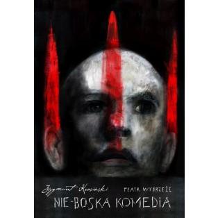 Nie-boska komedia Zygmunt Krasiński Wiktor Sadowski Polskie Plakaty Teatralne