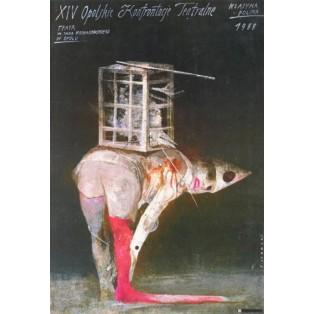 Opolskie Konfrontacje Teatralne XIV Wiktor Sadowski Polskie Plakaty Teatralne