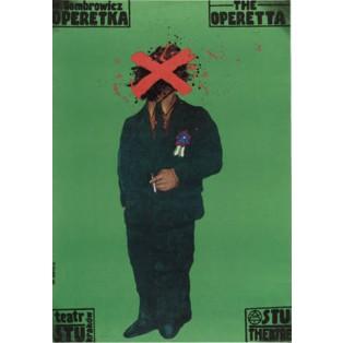 Operetka Witold Gombrowicz Jan Sawka Polskie Plakaty Teatralne