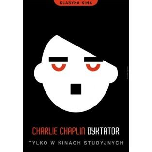 Dyktator Charlie Chaplin  Joanna Górska Jerzy Skakun Polskie Plakaty Filmowe