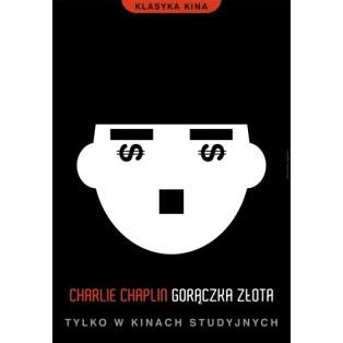 Gorączka złota Charlie Chaplin  Joanna Górska Jerzy Skakun Polskie Plakaty Filmowe