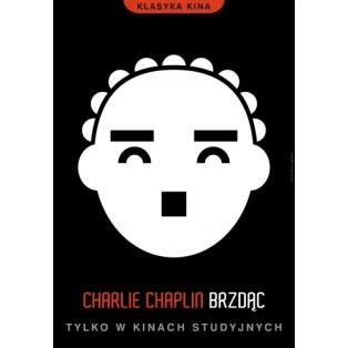 Brzdąc Charlie Chaplin  Joanna Górska Jerzy Skakun Polskie Plakaty Filmowe