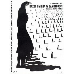 Każdy umiera w samotności Romuald Socha Polskie Plakaty Filmowe