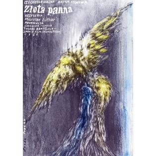 Złota panna Romuald Socha Polskie Plakaty Filmowe
