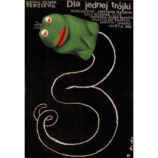 Dla jednej trójki Romuald Socha Polskie Plakaty Filmowe